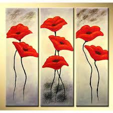 metal poppy wall art poppy wall art handmade poppies modern fl oil painting on canvas metal poppy wall art