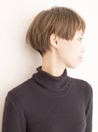 キレイ目ショートボブ2ブロックアシメの髪型ヘアスタイル ヘアドレ