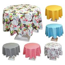 round table cloths poly cotton tablecloth with yellow polka dot design square tablecloths on for 36