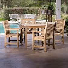 this westminster teak outdoor furniture set es with our 36 inch square dining table and 4
