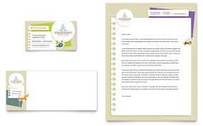 Kindergarten Business Card Letterhead Template Word Publisher