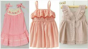 simple beautiful kid cotton frocks designs for spring summer 2018