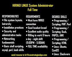image 1 of 1 linux administrator job description