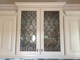 Glass Front Kitchen Cabinets Beveled Glass Inserts For My Kitchen Cabinets Done By Sgo