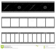 Film Strip Collection Vector Template Cinema Movie Photo