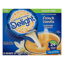 All of them are sealed individually and don't need to be refrigerated. International Delight Sugar Free French Vanilla Creamer Singles 24 Count Tom Thumb