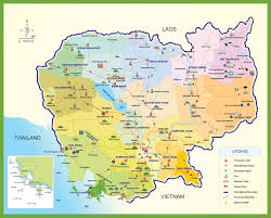 cambodia tourist map