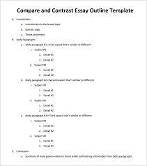 comparison and contrast essay outline hoga hojder comparison and contrast essay outline