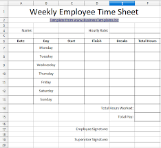 Hours Sheet Template 10 Best Timesheet Templates To Track Work Hours