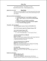 Retail Job Resume Retail Job Resume With No Experience New Preparing