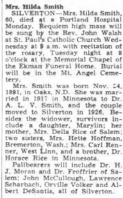 Obituary for Hilda Smith (Aged 60) - Newspapers.com
