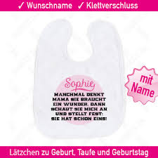 Bedruckte Sprüche Baby Lätzchen Wunschname Name Geschenk Spruch