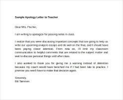 sample apology letter to teacher medicalassistant us sample apology letter to teacher 7 documents in