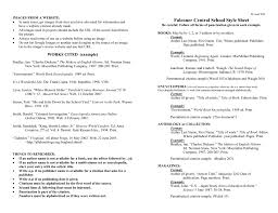 Fcs Style Sheet Word Document