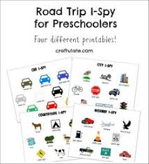 these i spy printables are sorted by area that you might be driving through on your next road trip genius