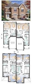 2 story multi family house plans