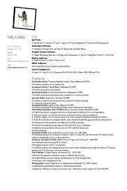 Resume Hobby North Fourthwall Coes On Kelly Page Resumes Put Section