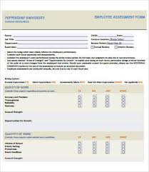Employee Assessment 8 Free Pdf Word Documents Download