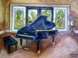grand piano painting by joseph sandora jr