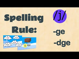 Printable phonics worksheets for kids. Using Ge Or Dge Spelling Easyteaching Youtube