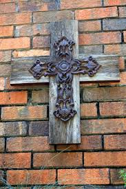 iron wall cross love: barn wood cross i have three metal crosses i would love to do this to use vintage jewelry pieces in place of the iron