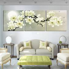 white magnolia flower  on white magnolia wall art with unframed modern home decoration wall decor art picture white