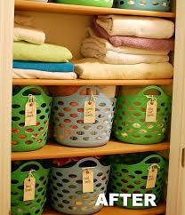 ideas for organizing your linen basket like this one from a bird and a bean