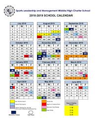 2018 19 calendar