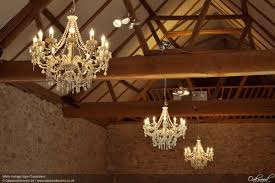 white vintage style chandeliers