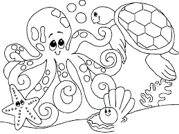 Ocean Animals Color Pages Ocean Animals Coloring Pages Insurestreet Co