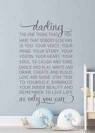 darling wall decal sticker inspire your darling with this beautiful and meaningful childhood e darling