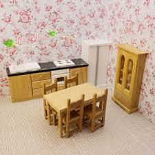dollhouse miniature furniture. 1:12 Dollhouse Miniature Furniture Wood Victorian Dining Kitchen Room Set 8 Pcs #Unbranded N