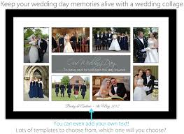 photo collage for a wedding
