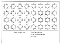 seating layouts for 40 x 80 tents