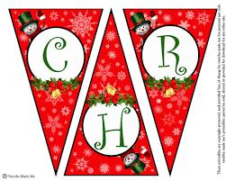 Diy Free Printable Christmas Banner Vanitha Made Me