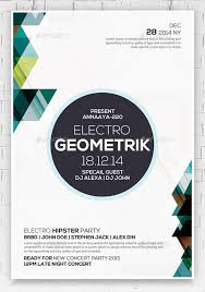 Downloadable Poster Templates 23 Geometric Flyer Templates Psd Eps Ai Indesign Free