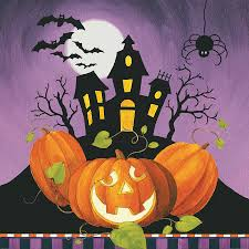 haunted painting happy haunting house on pumpkins by lisa audit