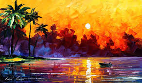 paintings of palm trees