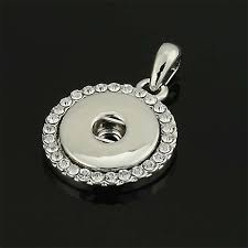 whole 20 mm snap on crystal charm round necklace pendant crystal insert charm pendant for diy