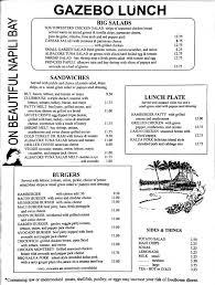 Gazebo Maui Menu Lunch  Vacations  Jonu0027s Info