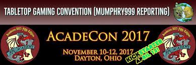 Secret stars & secret sessions. Acadecon 2017 Tabletop Gaming Convention Mumphry999