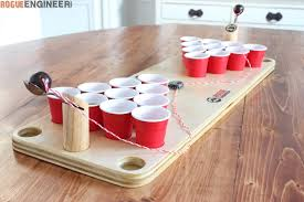 Wooden Games Plans Beauteous DIY Mini Beer Pong Game Rogue Engineer