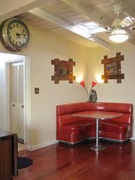 kitchen booth furniture. Red Vintage Kitchen Booth Furniture T