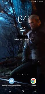 My phone's live wallpaper : witcher