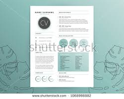 Elegant Cv Curriculum Vitae Sample Simplicity Stock Vector Royalty