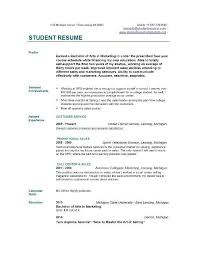 Resume Format For College Students Custom Example Student Resumes College Student Resume Example On Example Of
