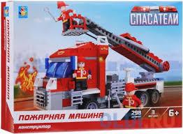 <b>Конструктор 1 Toy</b> Спасатели Пожарная машина 298 элементов ...