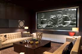 small media room ideas. Media Room Ideas Decorated With Modern Interior Design Using Cream Sofa And Wooden Coffee Table Small A