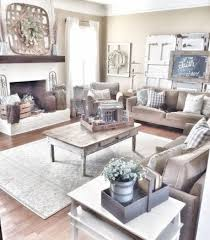 Design Decor Gorgeous 32 Rustic Farmhouse Living Room Design Decor Ideas HOUZWEE