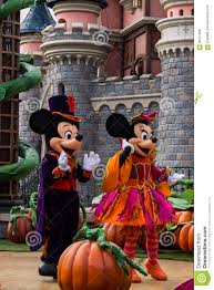 Mickey Mouse And Minnie Mouse During Halloween Celebrations At Disneyland  Paris Editorial Photo - Image of pink, goofy: 58751966